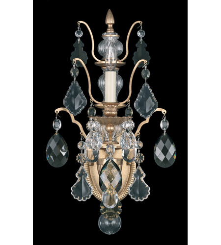 Schonbek Bordeaux 1 Light Wall Sconce in French Gold and Black Diamond Heritage Handcut Colors Trim 5765-26BD photo