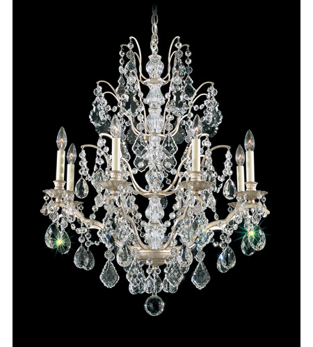 Schonbek Bordeaux 8 Light Chandelier in Silvergild and Clear Legacy Collection Trim 5771-91L photo