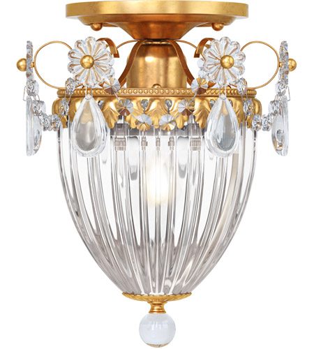 Schonbek 1239-22S Bagatelle 1 Light 8 inch Heirloom Gold Semi Flush Mount Ceiling Light in Clear Swarovski photo