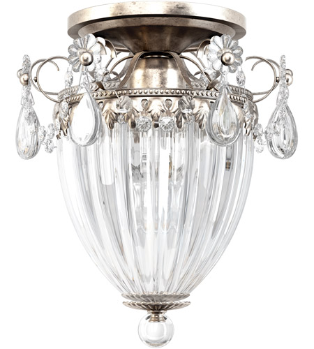 Schonbek 1242-48S Bagatelle 3 Light 11 inch Antique Silver Semi Flush Mount Ceiling Light in Clear Swarovski photo