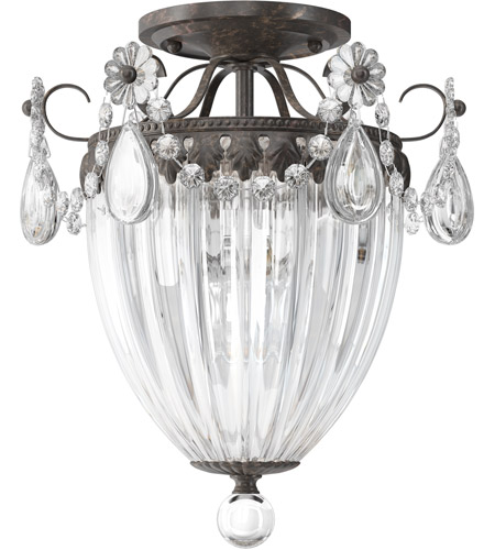 Schonbek 1242-76 Bagatelle 3 Light 11 inch Heirloom Bronze Semi Flush Mount Ceiling Light in Clear Heritage photo