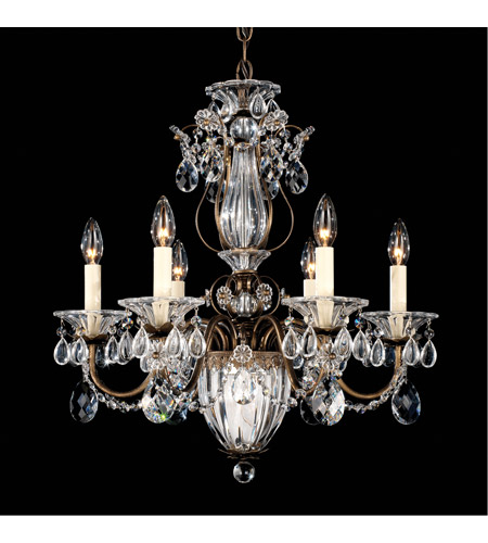 Schonbek 1246-23 Bagatelle 7 Light 21 inch Etruscan Gold Chandelier Ceiling Light in Clear Heritage photo