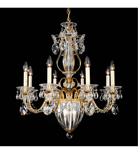 Schonbek 1248-22 Bagatelle 11 Light 27 inch Heirloom Gold Chandelier Ceiling Light in Clear Heritage photo