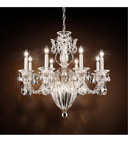 Schonbek 1238N-48A Bagatelle 11 Light 27 inch Antique Silver Pendant Ceiling Light in Clear Spectra photo