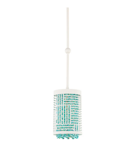 Schonbek Shadow Dance Pendant in White and Aqua Swarovski Elements Colors Trim SH0409N-06AQU photo