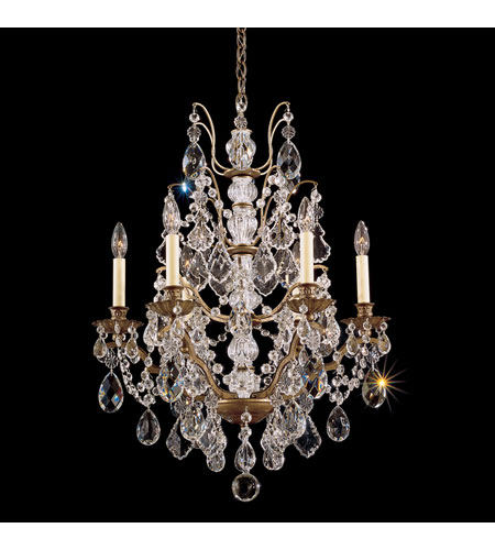 Schonbek Bordeaux 6 Light Chandelier in Etruscan Gold and Clear Legacy Collection Trim 5770-23L photo