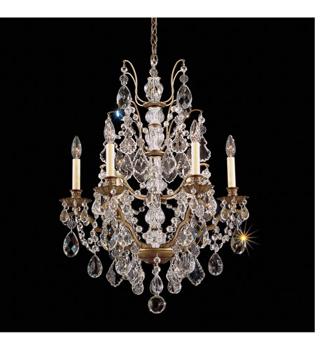 Schonbek 5770-73L Bordeaux 6 Light 22 inch Textured Bronze Chandelier Ceiling Light  photo