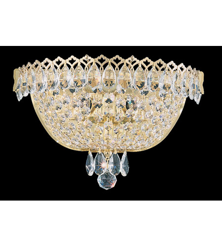 Schonbek Camelot 2 Light Wall Sconce in Special Gold and Clear Gemcut Trim 2610-20 photo