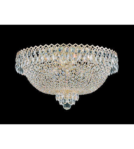 Schonbek Camelot 6 Light Flush Mount in Special Gold and Clear Gemcut Trim 2618-20 photo