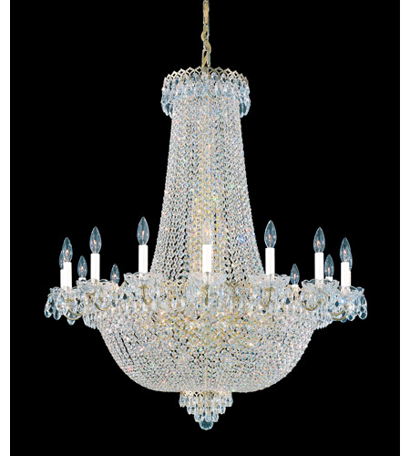 Schonbek Camelot 47 Light Chandelier in Special Gold and Clear Gemcut Trim 2629-20 photo