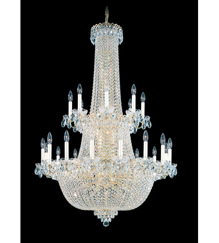 Schonbek Camelot 64 Light Chandelier in Special Gold and Clear Gemcut Trim 2639-20 photo