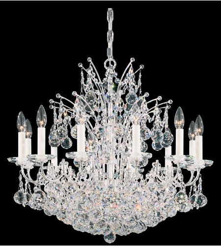 Schonbek Chandelier Replacement Crystals: Schonbek Contessa 24 Light Chandelier In Silver And