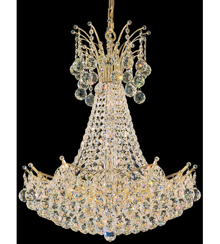 Schonbek Contessa 22 Light Chandelier in Gold and Crystal Swarovski Elements Trim 4825-20S photo