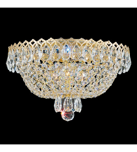 Schonbek 2616-211 Camelot 3 Light 11 inch Polished Gold Flush Mount Ceiling Light in Aurelia photo