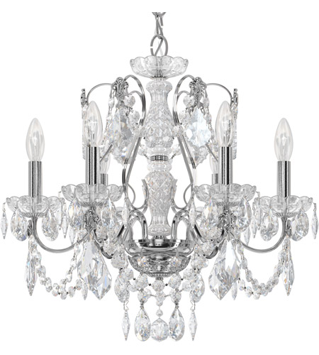Schonbek 1705-40 Century 6 Light 21 inch Silver Chandelier Ceiling Light in Polished Silver photo