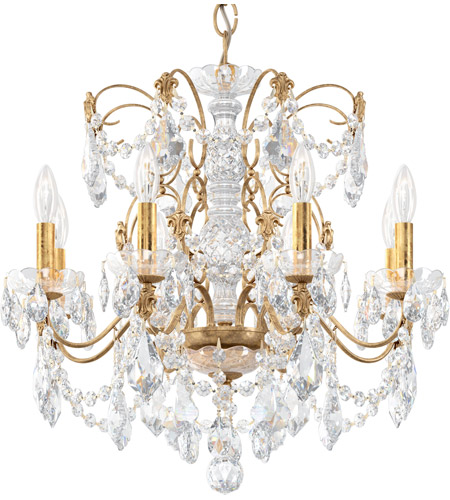 Schonbek 1707-26 Century 8 Light 24 inch French Gold Chandelier Ceiling Light photo