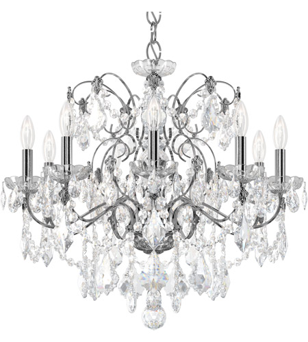 Schonbek 1709-40 Century 9 Light 26 inch Silver Chandelier Ceiling Light in Polished Silver photo