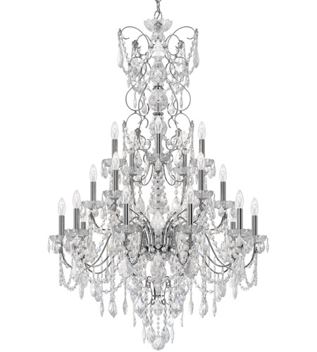 Schonbek Polished Silver Chandeliers