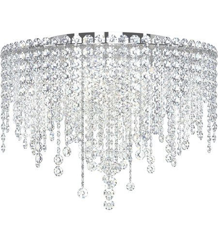 Schonbek CH1801N-401A Chantant 5 Light 21 inch Stainless Steel Flush Mount Ceiling Light in Clear Spectra, Strand photo