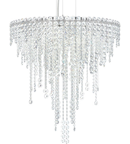 Schonbek CH2412N-401A Chantant 6 Light 24 inch Stainless Steel Pendant Ceiling Light in Clear Spectra, Strand photo