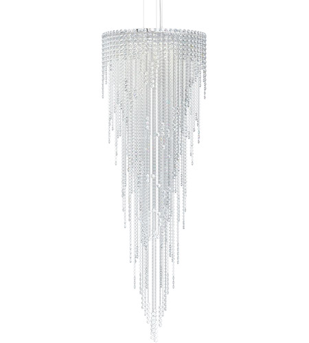 Schonbek CH2413N-401A Chantant 6 Light 24 inch Stainless Steel Pendant Ceiling Light in Clear Spectra, Strand photo
