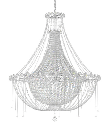 Schonbek CM8334N-401A Chrysalita 8 Light 34 inch Stainless Steel Chandelier Ceiling Light in Clear Spectra photo