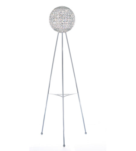 Schonbek Da Vinci 12 Light Floor Lamp in Stainless Steel and Clear Spectra Crystal Trim DVF1265A photo