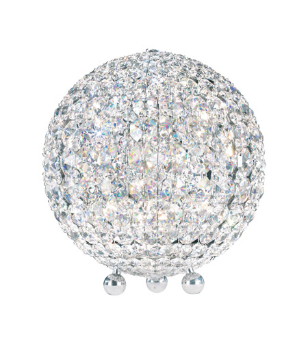 Schonbek DVT1012S Da Vinci 12 inch 40 watt Stainless Steel Table Lamp Portable Light in Clear Swarovski, Geometrix photo
