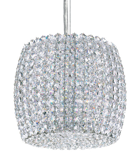 Schonbek Dionyx 1 Light Pendant in Stainless Steel and Crystal Swarovski Elements Trim DI0807S photo