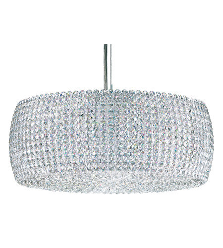 Schonbek Dionyx 3 Light Pendant in Stainless Steel and Crystal Swarovski Elements Trim DI1807S photo