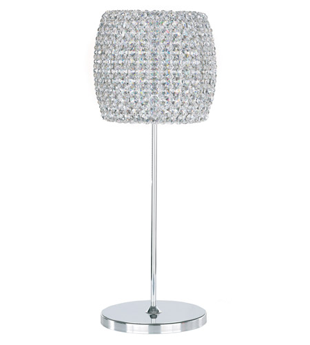 Schonbek Dionyx 1 Light Table Lamp in Stainless Steel and Crystal Swarovski Elements Trim DIT0820S photo