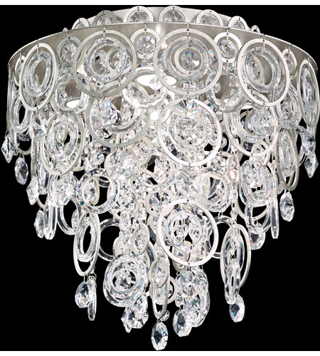 Schonbek DR1401N-48A Circulus 4 Light Antique Silver Flush Mount Ceiling Light in Cast Antique Silver photo