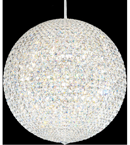 Schonbek Dv2424s Da Vinci 30 Light 24 Inch Stainless Steel Pendant Ceiling In Swarovski Geometrix