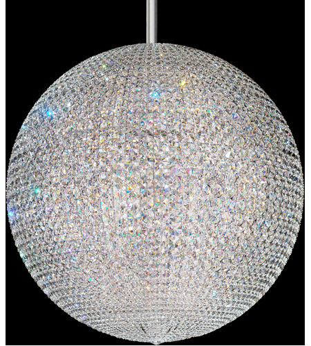 Da Vinci 72 Light 36 Inch Stainless Steel Pendant Ceiling In Swarovski Geometrix