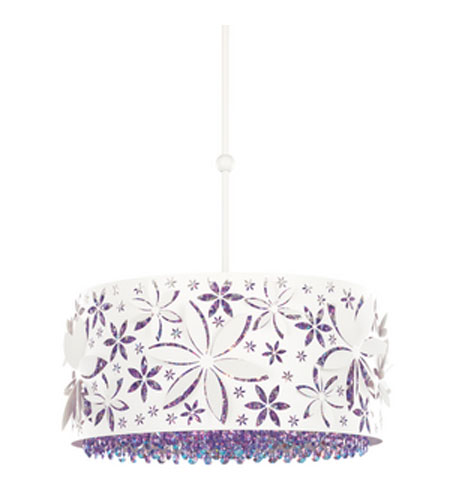 Schonbek Shadow Dance Pendant in White and Violet Swarovski Elements Colors Trim SH0103N-06VIO photo