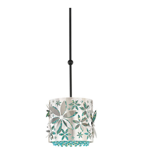 Schonbek Shadow Dance Pendant in Brushed Stainless Steel and Aqua Swarovski Elements Colors Trim SH0303N-16AQU photo