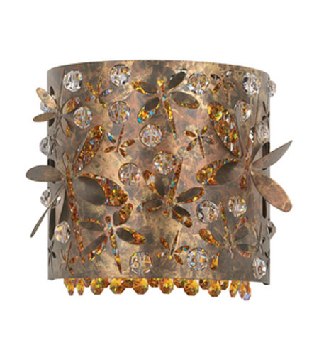 Schonbek Shadow Dance Wall Sconce in Mocha Bronze and Amber Swarovski Elements Colors Trim SH0508N-78AMB photo