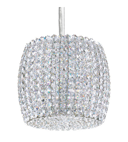 Schonbek Dionyx 1 Light Pendant in Stainless Steel and Silver Shade Swarovski Elements Trim DI0807SH photo