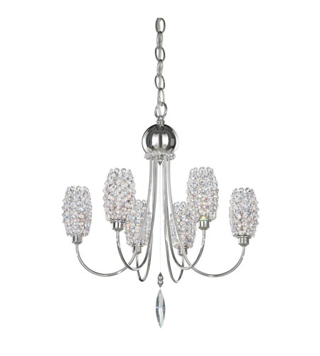 Schonbek Dionyx 6 Light Convertible Semi Flush or Pendant in Stainless Steel and Spice Swarovski Elements Trim DI1619SPI photo