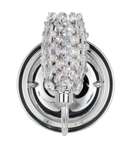 Schonbek Dionyx 1 Light Wall Sconce in Stainless Steel and Strawberry Fields Swarovski Elements Trim DIW0507STR photo