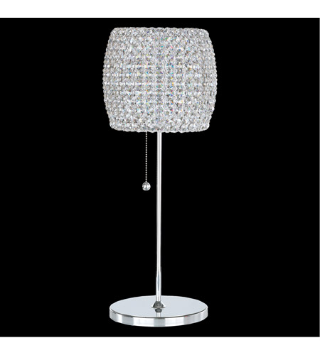 Schonbek DIT0820S Dionyx 20 Inch 100 Watt Stainless Steel Table Lamp  Portable Light In Clear Swarovski, Geometrix
