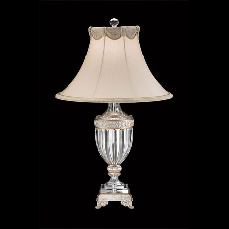 Schonbek Dynasty Lamps 1 Light Table Lamp in Antique Silver 10110N-48 photo
