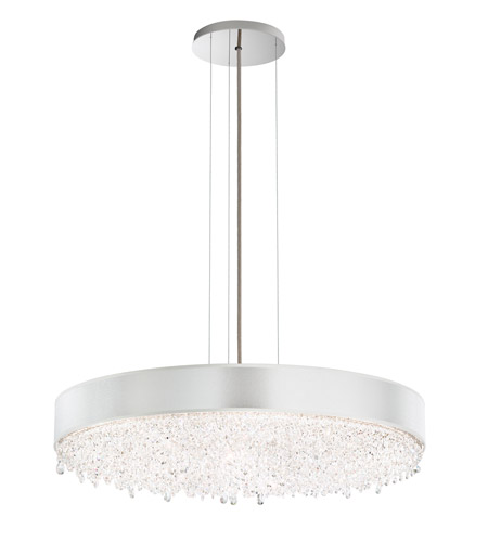 Schonbek EC1328N-401H3 Eclyptix 12 Light 29 inch Stainless Steel Pendant Ceiling Light in White, Clear Heritage photo
