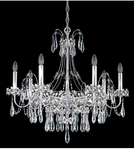 Schonbek Ekaterina 7 Light Chandelier in Stainless Steel and Crystal Swarovski Elements Trim EK6507N-401S photo