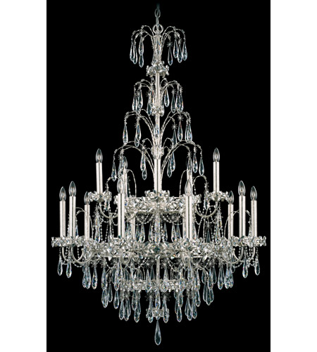 Schonbek Ekaterina 15 Light Chandelier in Antique Silver and Crystal Swarovski Elements Trim EK6515N-48S photo