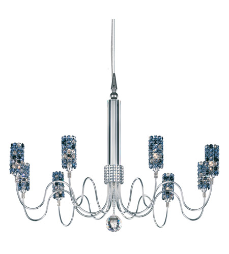 Schonbek Elements 9 Light Chandelier in Stainless Steel and Bullet Swarovski Elements Trim EL3124BUL photo