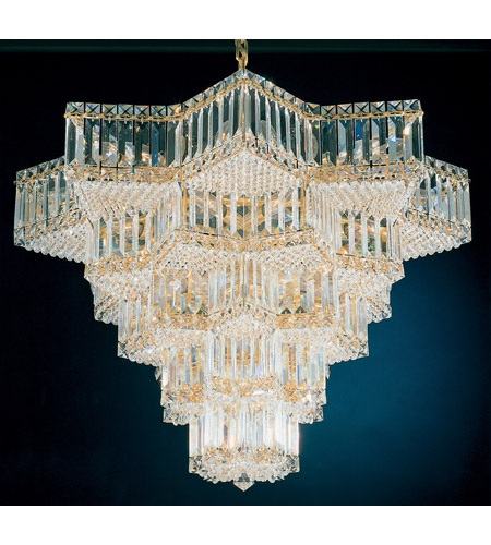 Schonbek 2716-20 Equinoxe 31 Light 30 inch Gold Chandelier Ceiling Light in Polished Gold photo
