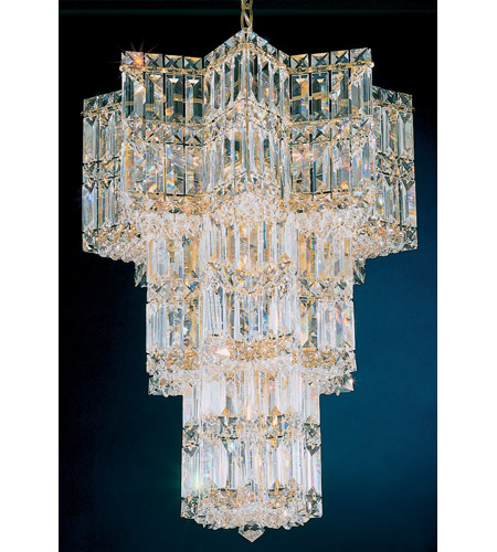 Schonbek Equinoxe 13 Light Chandelier in Gold and Clear Gemcut Trim 2713-20 photo