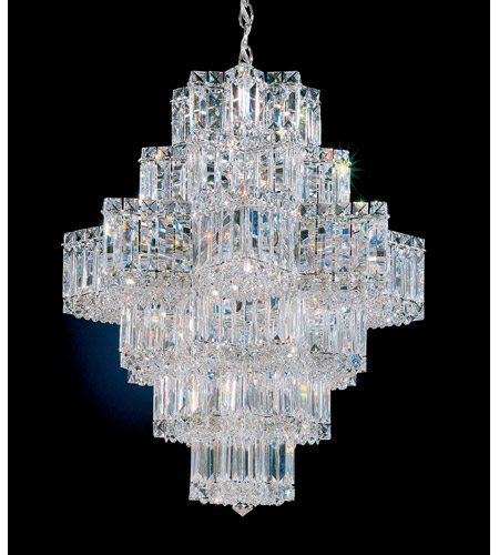 Schonbek 2724-40 Equinoxe 21 Light 23 inch Silver Chandelier Ceiling Light in Polished Silver photo