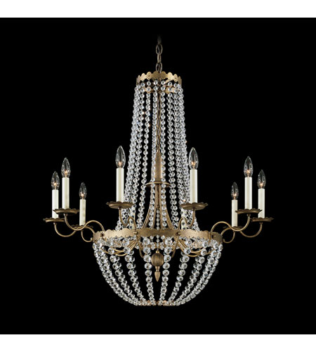 Schonbek Early American 10 Light Chandelier in Etruscan Gold and Clear Legacy Collection Trim 5148-23 photo
